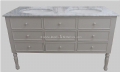 Bespoke 9 Drawer Sink Vanity Unit with Solid Marble Top